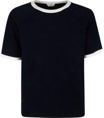 thom browne seersucker knit ringer t-shirt