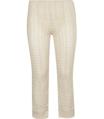 alberta ferretti cropped knit trousers