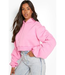 hoodie met geplooide mouwen, pink