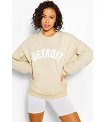 oversized detroit sweater, zand