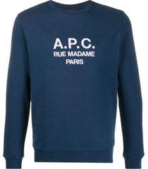 a.p.c. embroidered logo sweatshirt