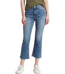 rag & bone women's nina high-rise ankle flare jeans - freya - size 24 (0)