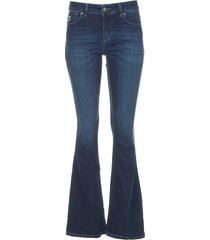 l32 high waist flared broek raval  donkerblauw