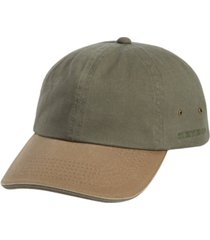 stetson men's 2-tone washed twill cap