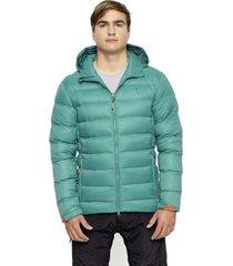 chaqueta pluma lonquimay 700 verde claro andesgear