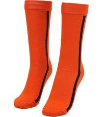 medias  naranja-azul colore
