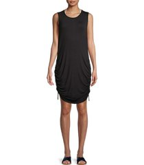 dkny women's ruched coverup dress - soft white - size m