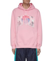 thank you fringe embroidered hoodie