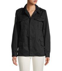 zadig & voltaire women's long-sleeve cotton jacket - black - size 40 (l)