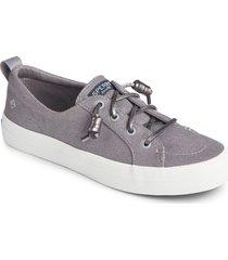 women's sperry crest vibe slip-on sneaker, size 8 m - metallic