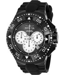 reloj invicta negro modelo 230kh para hombres, colección excursion