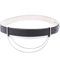 brunello cucinelli pebbled leather chain belt