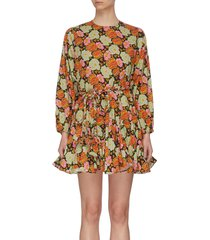 'ella' floral mini dress