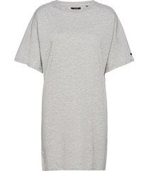 cotton modal tshirt dress kort klänning grå superdry