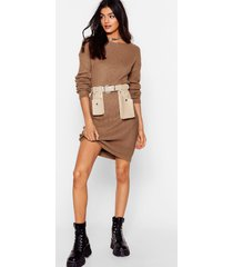 womens laid back and low key longline sweater - mocha