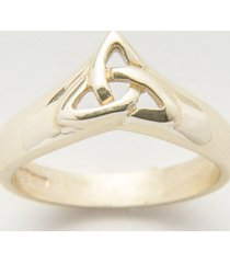 10k gold ladies trinity wishbone ring size 5
