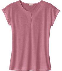 shirt met korte mouw van tencel™, rozenhout 44/46