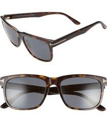 men's tom ford stephenson 56mm rectangle sunglasses -