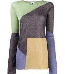 m missoni colour-block knitted top - roxo