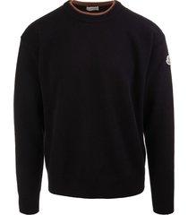 moncler man black eco cashmere pullover