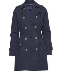 d1. trench coat trenchcoat lange jas blauw gant