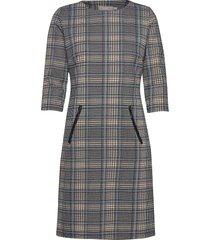 frlecheck 3 dress jurk knielengte blauw fransa