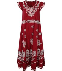red valentino floral embroidered sleeveless dress