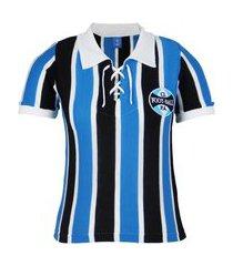 camisa retro feminina grêmio gola polo alusiva uniforme 1929 nº 7
