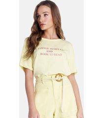 t-shirt riccieri abertura nas costas amarela