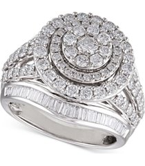 diamond cluster halo engagement ring (2 ct. t.w.) in 14k white gold