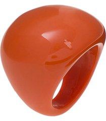 anéis de acrílico e resina le briju anéis de acrílico e resina laranja