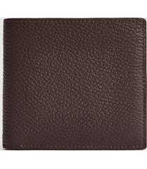 reiss bishop - leather wallet in dark brown, mens