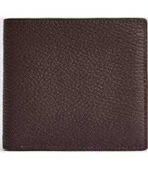 reiss bishop - leather wallet in dark brown, mens