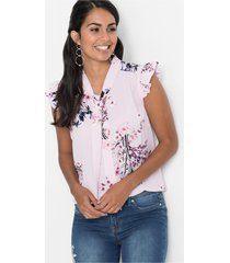 mouwloze blouse met strik