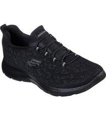 zapatos mujer  summits - leopard spot negro skechers