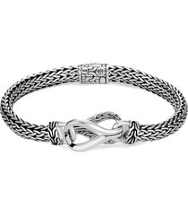 'asli classic chain' silver woven bracelet