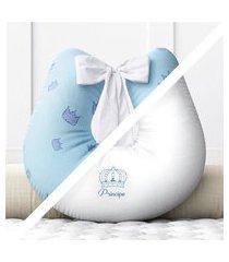 almofada amamentação príncipe frente/verso grão de gente azul