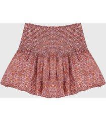 falda naranja-rojo gap