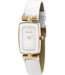 reloj mujer white leather guardo
