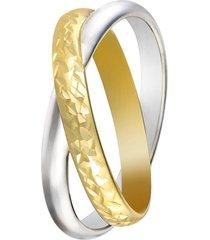 anello in oro bianco bicolore per donna