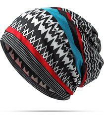 women skullies berretti elastici cap collar sciarpa copricapo cappello etnica style chemo cap dual use