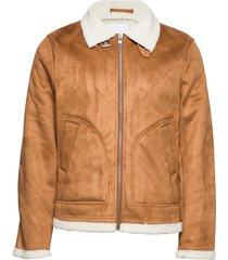 fake shearling jacket bomberjack jack bruin lindbergh