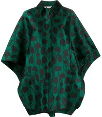 la doublej x mantero super woman moses verde satin cape - black
