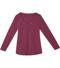 shirt met lange mouwen en band, wild berry 40