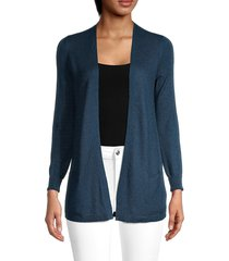 loro piana women's cashmere & silk cardigan - blue - size 38 (4)