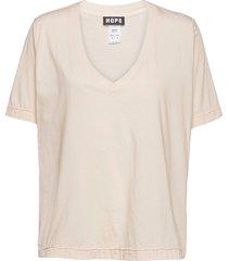 we tee t-shirts & tops short-sleeved beige hope