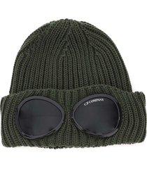 c.p. company goggle beanie hat