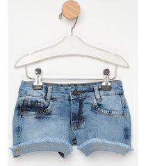 shorts jeans express menina azul