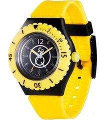 reloj q&q smile rp04j002y unisex amarillo