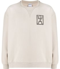 marcelo burlon county of milan symbol print sweatshirt - neutrals